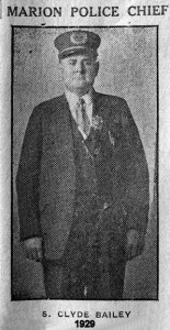 Clyde Bailey 1929 Police Chief